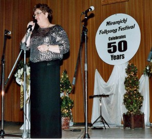 Susan performing at the 50th Anniversary of the Miramichi Folksong Festival