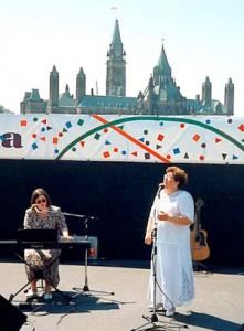 "Susan sang ""Remember Me"" in Ottawa on Canada Day, 1994"