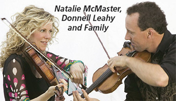Natalie McMaster, Donnell Leahy and family